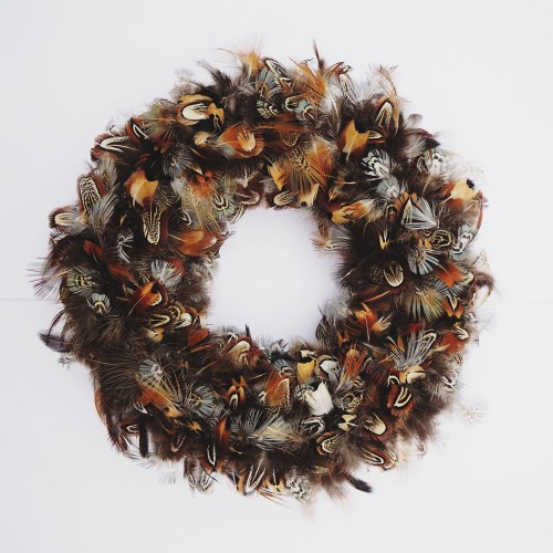 Plucking Fabulous: a new take on Christmas wreaths