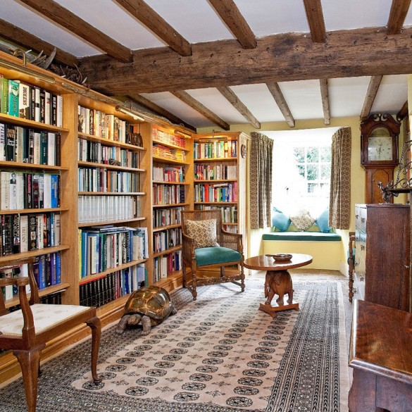 Homes with libraries for sale homes for sale uk town for Mountain house library